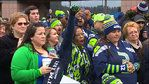 12th Man shows up in droves on 'Blue Friday', and local weatherman Steve Pool writes and sings a special song about our SEAHAWKS.  :-D