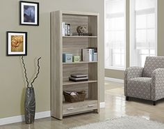 Monarch Specialties Natural ReclaimedLook Bookcase with a Drawer 71Inch >>> Visit the image link more details. Note:It is affiliate link to Amazon.