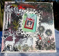 Les folies de Coco... A Christmas canvas (with stamps by Crafty Individuals)