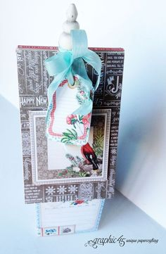 A January birdhouse from Diane's Workshop with Time to Flourish. In stores in early November 2014 #graphic45 #sneakpeeks