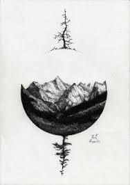 Image result for tattoo maori compass mountains
