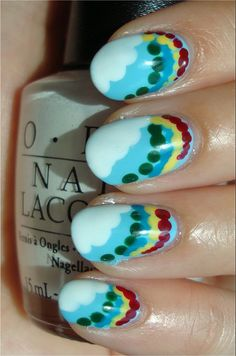 Nail Art Tutorial: Rainbow & Cloud Nails   Swatch And Learn
