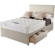 Buy Silentnight Auckland Natural Kingsize 4 Drw Divan Bed at Argos.co.uk - Your Online Shop for Divan beds, Beds, Bedroom furniture, Home and garden.