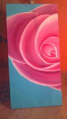 diy for the home painting look on etsy for sararodgersartwork rose flower paint canvas pretty