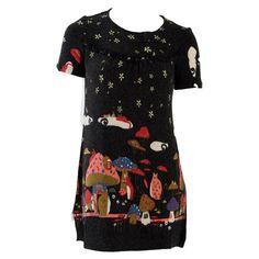 Womens Miso Mushroom Print Dress
