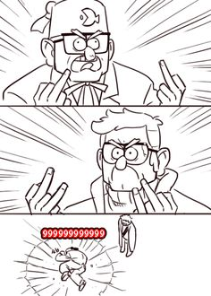 pshhh, ONE middle finger Gravity Falls Dipper, Anime Gravity Falls, Gravity Falls Funny, Gravity Falls Fan Art, Gravity Falls Bill Cipher, Gravity Falls Comics, Stan Gravity Falls, Gravity Falls Personajes, Phineas Et Ferb