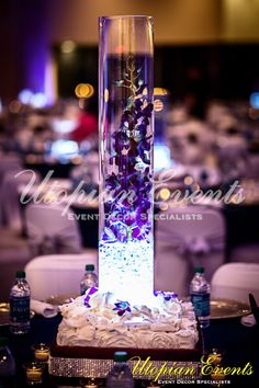 glass cylinder with flowers - Google Search