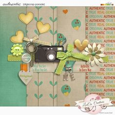 Authentic mini kit freebie from LouCee Creations