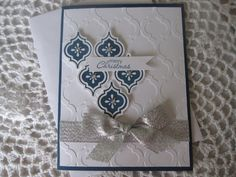 Stampin' Up Handmade Greeting Card Silver by ConroysCorner on Etsy, $3.50
