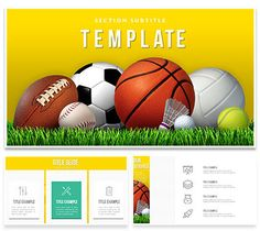 Basketball  Sports Game Keynote Templates  Keynote And Template