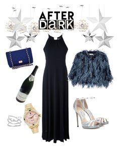 """""""After Dark"""" by egaemgyu on Polyvore featuring Safavieh, MICHAEL Michael Kors, Jimmy Choo, Chanel, Mary Katrantzou, Rolex and afterdark"""