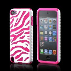 White Hot Pink Zebra Hard Shell Silicon Case for iPod Touch 5 Generation itouch 5 Ipod 5 Cases, Ipod Touch Cases, Iphone Cases Cute, Cool Cases, Diy Phone Case, Whatsapp Pink, Hello Kitty, Ray Bans, Ipad