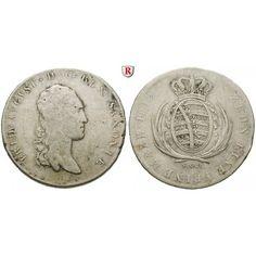 Sachsen, Königreich Sachsen, Friedrich August I., Konventionstaler 1812, ss: Friedrich August I. 1806-1827. Konventionstaler 1812… #coins