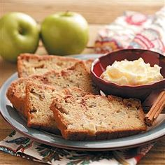 We always love a sweet bread... especially in the winter months.  This one has apples and cinnamon.  Watch us make this recipe at  2:58 into this show: https://www.youtube.com/watch?v=l-FB67zkxYE