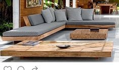 Low furniture, lounge , beautiful wood, chunky wood