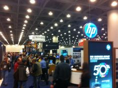 Jason Parker's pic of HP and New York Times booths at Macworld:iWorld 2012.