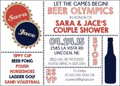 Beer Olympics Invite Digital File by CWesterbuhr on Etsy