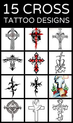 15 Cross Tattoo Designs Tattoos that I love Tribal Cross Tattoos, Cross Tattoo Designs, Tattoo Design Drawings, Tattoo Designs Men, Cross Designs, Tattoo Art, Celtic Cross Tattoo For Men, Cross Tattoos For Women, Celtic Tattoos