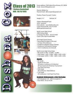 deshona sports resume