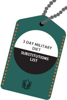 3 day military diet substitutions is helpful to those following this quick…