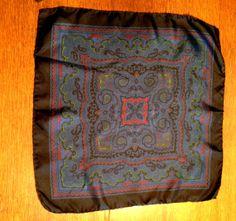 Rare Italy Italian Silk Scarf by Damon Dark Royal by KCScolorado, $10.00