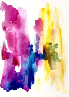 Original Abstract Watercolor 'Transition No.2' by Studio 007