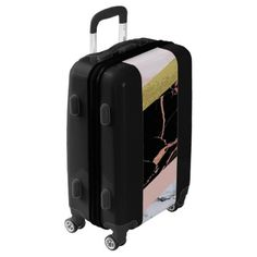 #gold - #Faux Marble in Rose Gold Luggage