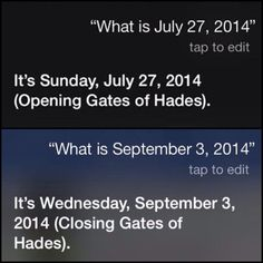 Ask Siri, she actually says this. :D< Oh my gosh!  I'm going to try this later!