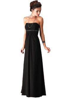 Full Length Strapless Evening Dress in Black (UK20) - http://www.cheaptohome.co.uk/full-length-strapless-evening-dress-in-black-uk20/