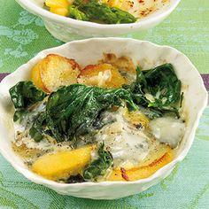 Knoblauch-Spinat mit Gorgonzola Rezept | Küchengötter