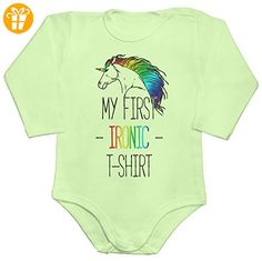My First Ironic T-Shirt Baby Romper Long Sleeve Bodysuit Extra Large - Baby bodys baby einteiler baby stampler (*Partner-Link)