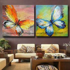 Resultado de imagen para pinturas abstractas de mariposas