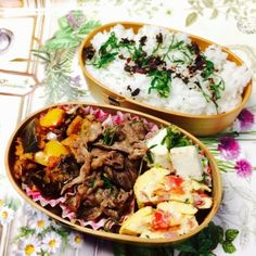 posted by @pupumomo17 鯖のトマトナス煮込み牛肉豆腐トマトベーコンのオムレツ#obentou...