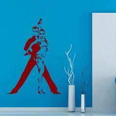 Wall Decals Sport Dance Dancers Man Woman Vinyl Sticker Murals Wall Decor KG120