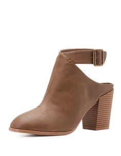 Qupid Buckled Cut-Out Heel Booties | Charlotte Russe