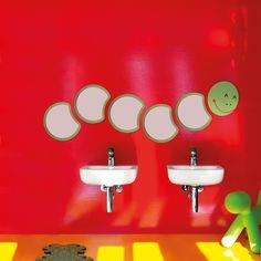 Colorful Kids Bathrooms, Designer Furniture, Accessories and Bathroom Fixtures for Children Colorful Childrens Bathroom, Rustic Bathroom Decor, Bathroom Kids, Bathroom Colors, Colorful Bathroom, Kids Bath, Lavabo Vintage, Teen Bathrooms, Kids Toilet