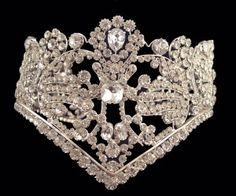 The diadem of Empress Josephine was made for the coronation of the Empress.  The diadem is fully set  with diamonds.    At the coronation ceremony in Notre Dame Cathederal, Napoleon, after crowning himself, crowned Josephone as his wife by her  own right