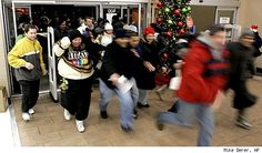 BLACK FRIDAY: the day people trample each other for cheap stuff when the day before they had been thankful for what they already had.