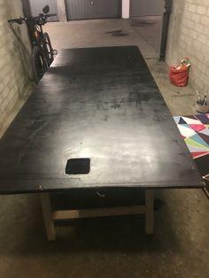 Mein Nähatelier hat einen selbst entworfener Tisch bekommen. Maya, Dining Table, Furniture, Home Decor, Table, Decoration Home, Room Decor, Dinner Table, Home Furnishings