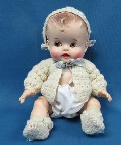 """Vintage 1950's SUNBABE SO-WEE 10"""" Jointed Rubber Doll : Ruth E. Newton"""
