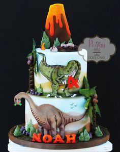 Dinosaur Cake Topper Set Fondant decorations only cake not image 0 Birthday Cake Fondant, Dinosaur Birthday Cakes, Dinosaur Party, Dinosaur Cake Toppers, Dino Cake, T Rex Cake, 4th Birthday Parties, Boy Birthday, Birthday Ideas
