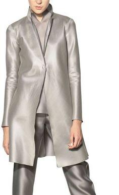 Heavy Techno Silk Organza Coat - Lyst
