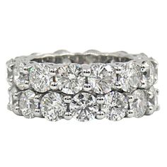 Diamond Platinum Common Prong Eternity Bands | Price Upon Request