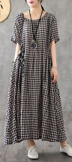 Funky Outfits, Unique Outfits, Linen Dresses, Casual Dresses, Modest Fashion, Fashion Dresses, Recycled Dress, Long Tunic Tops, Summer Dress Outfits