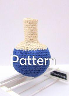 ROUND FLASK  AMIGURUMI Pattern/ Crochet Pattern/ Chemistry Instruments by WhiteSheepShop on Etsy