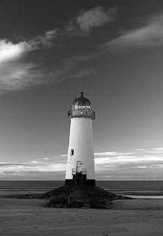 Talacre Lighthouse - The lighthouse on talacre beach, North Wales.