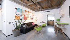 דקה ואתם בבית: עיצוב משרד סטארט אפ בתל אביב | בניין ודיור