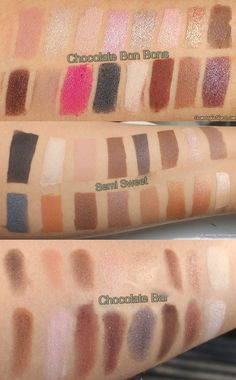 Too Faced Chocolate Bon Bons Palette vs Semi-Sweet vs Chocolate Bar Swatches Friday, February 12, 2016 Renu X Eyeshadow, Makeup, Palette, Reviews, Spring, Swatches, Too Faced, Valentine's DayToo Faced Chocolate Bon Bons Palette vs Semi-Sweet vs Chocolate Bar Swatches