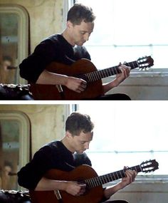 Of course he plays guitar too.  Because he's not perfect enough.