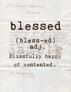 Blessed definition Image transfer Instant download by TiffanyJane, $1.25